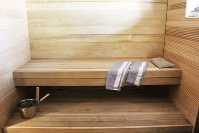 Sauna room with simple style