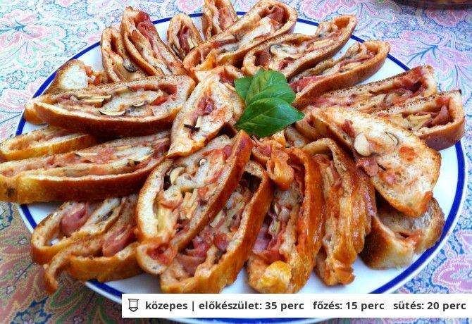 Pizzatekercsek Grétitől