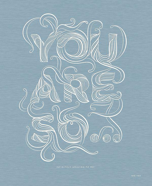 """You Are So.."" by stellavie design manufaktur , via Behance"