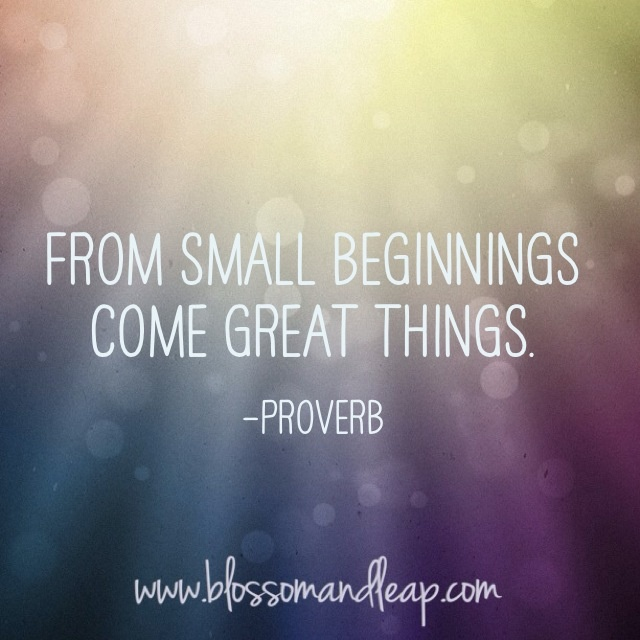 from small beginnings - photo #11