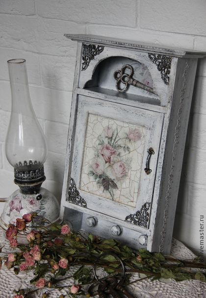 """Прихожая ручной работы. Ярмарка Мастеров - ручная работа Ключница шебби-шик """"Мой милый дом """". Handmade."""