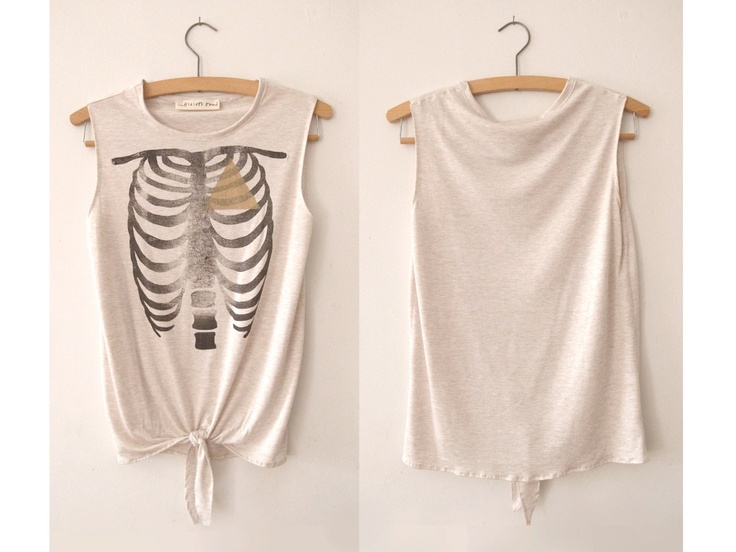 A cool take on the classic skeleton tee.