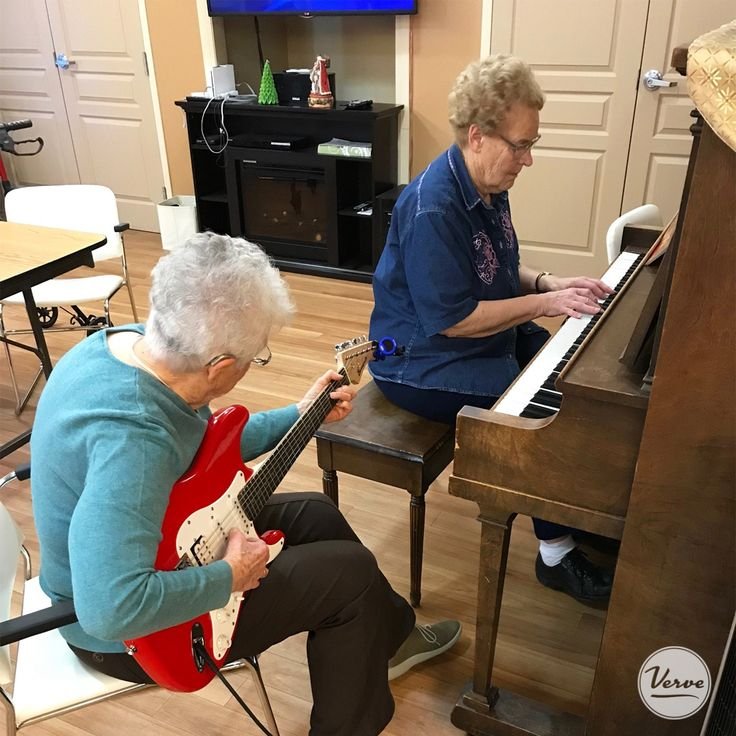 Residents at Dr. James Hemstock treated others with a jam session.  #verveseniorliving