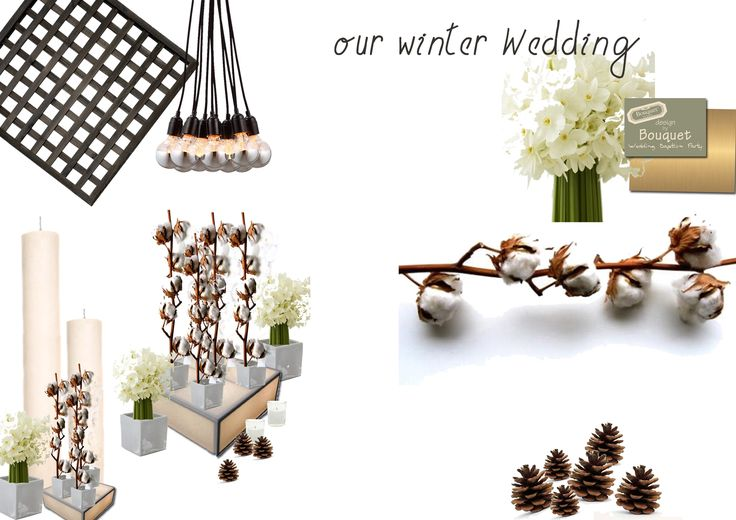 Winter wedding inspiration. Cotton. Wow!
