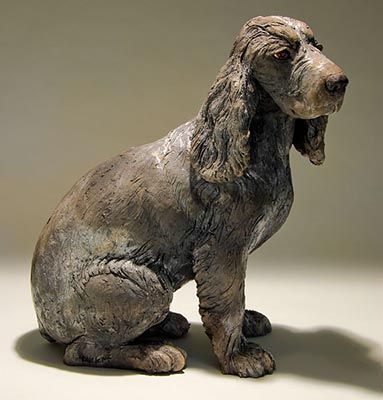Clay Dog Sculptures   CERÂMICA