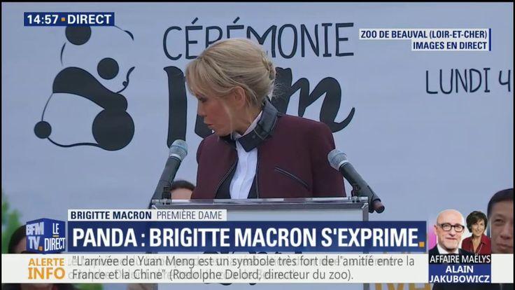"""""""Yuan Meng est le fruit énergique et vigoureux de l'amitié franco-chinoise"""", déclare Brigitte Macron au zoo de Beauval"""