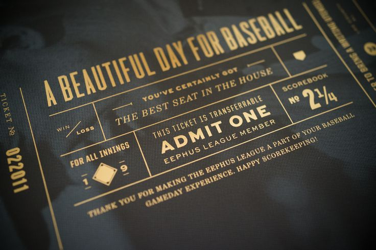 If only most of the MLB graphics looked this luxurious... // Golden Ticket by Eephus League