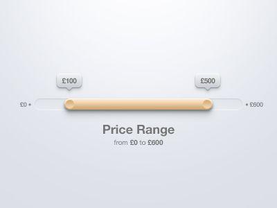 Price Range Selection