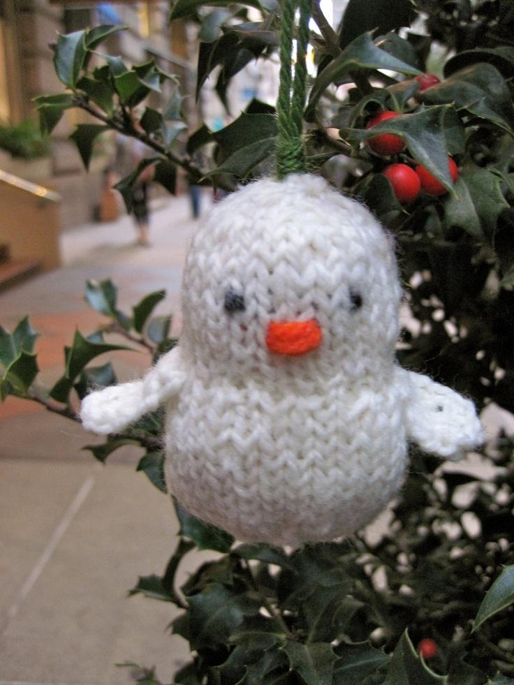 Superb Loom Knit Christmas Ornaments Part - 12: Snowbird Knit Christmas Ornament PATTERN