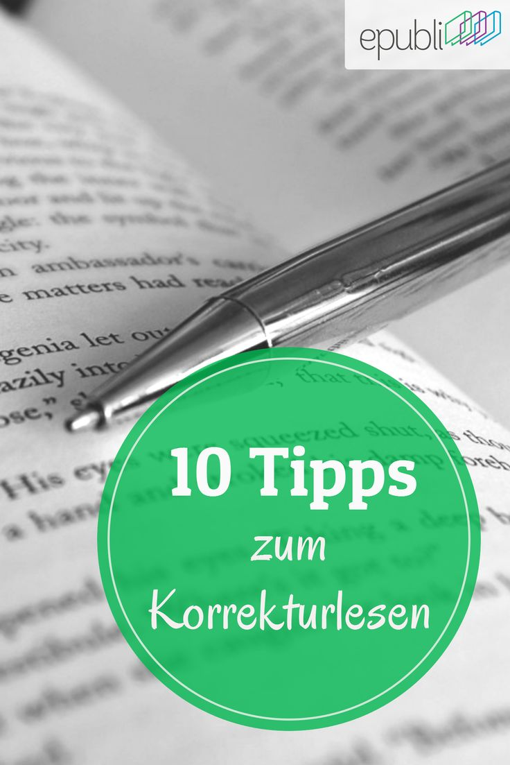 Wochenende! Das bedeutet genügend Zeit zum Korrekturlesen. Was Ihr dabei unbedingt beachten solltet, erfahrt Ihr auf unserem Blog http://www.epubli.de/blog/10-tipps-zum-korrekturlesen #epubli #schreibtipps