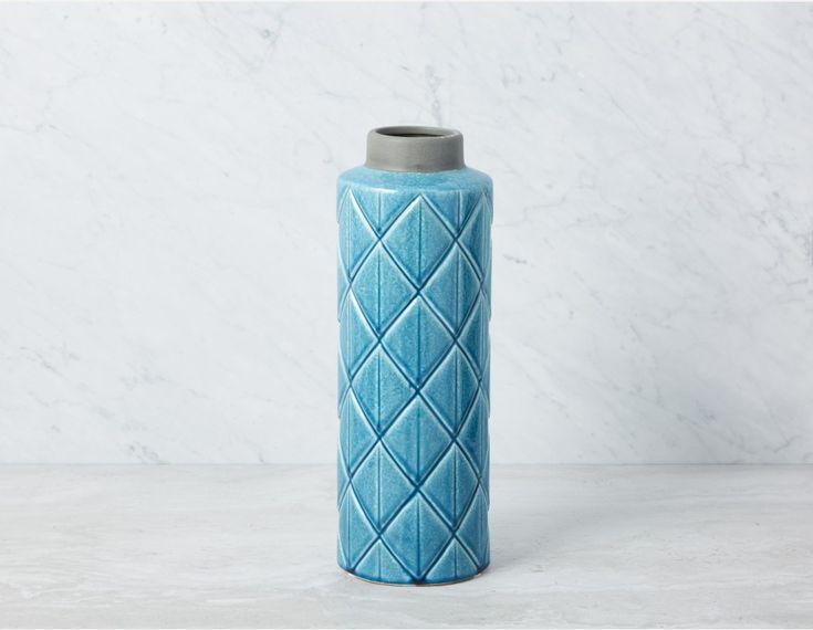 COMORIN - Vase 42cm - Teal