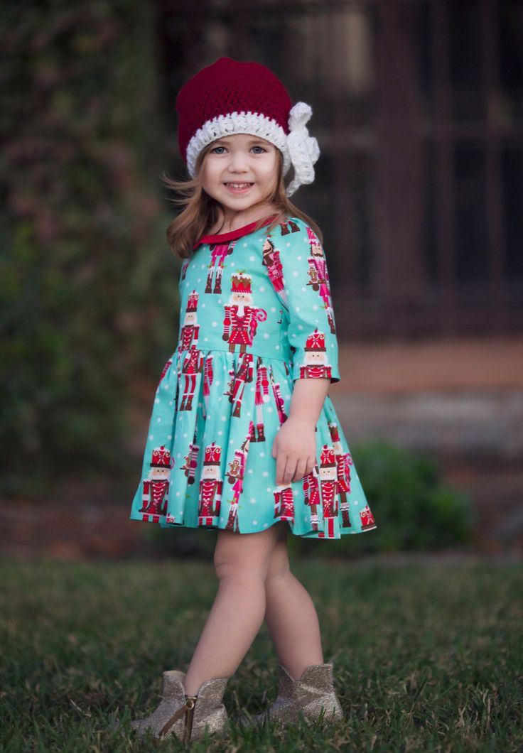 Girls Holiday Dress - Holiday Dress for Toddlers - Dress Set for Girls - Dress and Doll - Nutcracker Dress - Christmas Dress for Toddlers