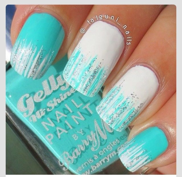 So Cute Nails . Im So Going To Do This For My Sisters Frozen Theme Party . Also Good For Any Occasion !