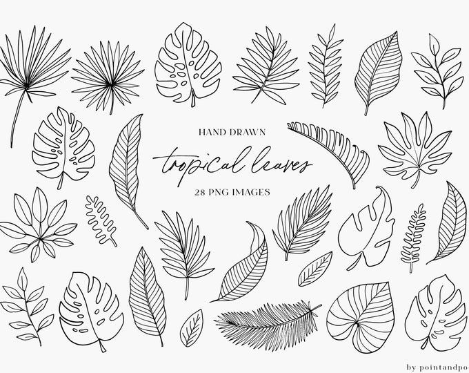 Doodled Leaves Clip Art Png Leaf Digital Stamp Printable Photoshop Brush Cardmaking Clipart Natural Zen Design Nature Foliage In 2021 Drawing Clipart Hand Doodles Clip Art
