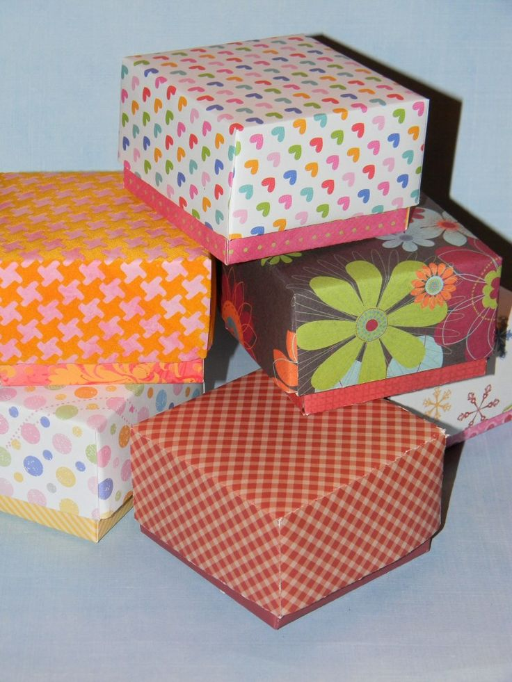How to Make a Small Gift Box with Lid-Make a Taller Bottom to Show Off Cute Paper - Joyful Daisy