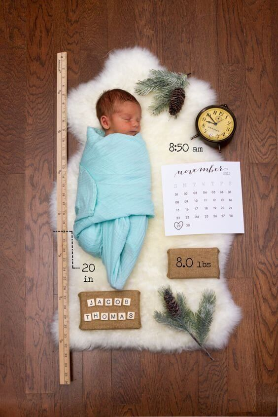 Baby Boy Birth Announcement Idea