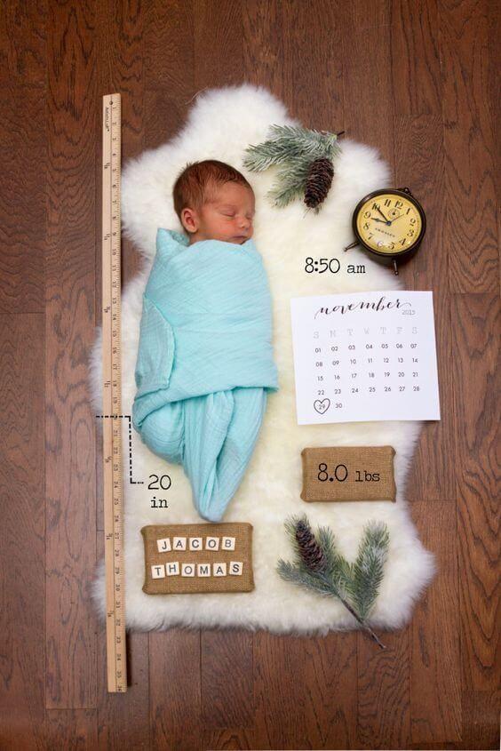 Baby Boy Birth Announcement Idea