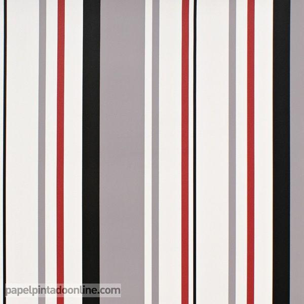 M s de 1000 ideas sobre combinaciones de colores rojo en - Papeles pintados rayas verticales ...