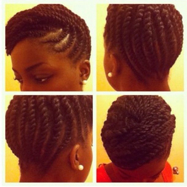 2 Strand Flat Twisted Updo Hair Pinterest Flat Twist
