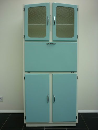 VINTAGE Kitchen Larder Cabinet Freestanding Kitchenette Cupboard 50s 60s Retro