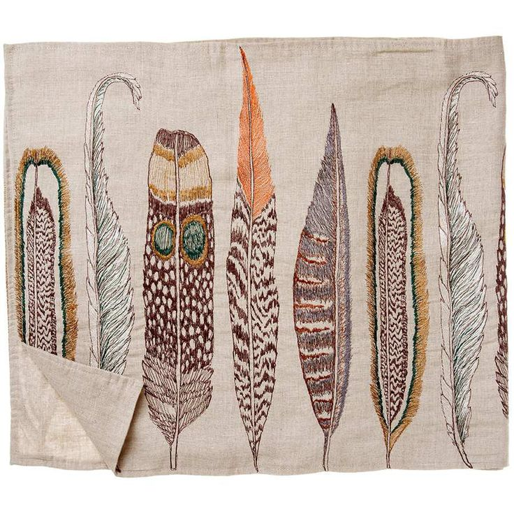 Feathers Table Runner #table-runner #Wholesale #WholesalerAppOnly