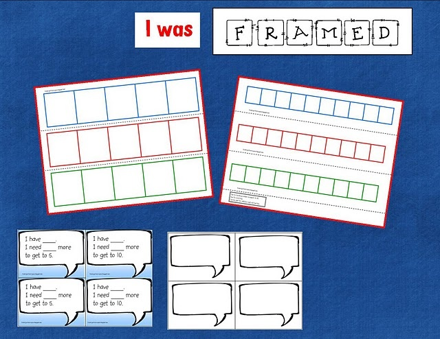 five and ten frame with math talk