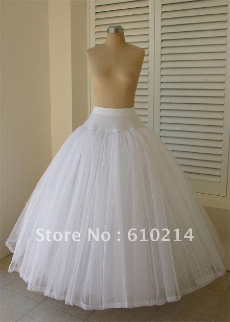 Elegante 100% nuevo Tulle vestidos de bola de la boda enaguas de crinolina nupcial Slips banquete de boda enaguas sin aros
