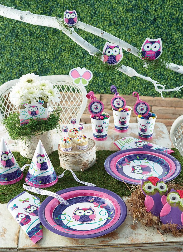 Cute owl party tableware #owlparty