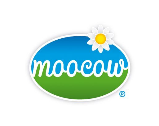 Logo designed for Moocow - an Australian dairy products brand.