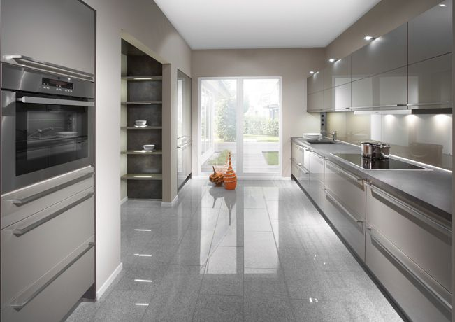 Champagne High Gloss German Kitchen - Kitchen Solutions Kent . German Kitchen Specialists