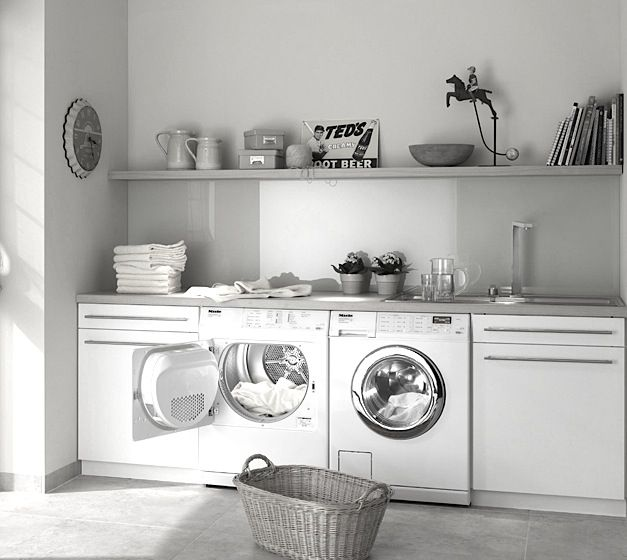 Miele W3003 WHR Machine. The gentlest cycle is easier on clothing than hand-washing, according to Miele. #miele
