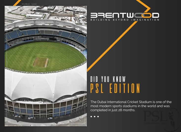 Brentwood Presents - Did You Know: PSL Edition!  To celebrate the revival of international cricket in the country, Brentwood presents interesting facts about Pakistan Super League host stadiums!  #PSL #DilSeJaanLagaDe #Brentwood #Pakistan #CricketRevival #BuildingBeyondImagination