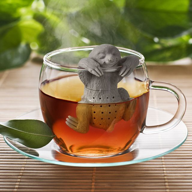 Cute Lazy Sloth Tea Infuser Silicone Reusable Portable Tea Strainer Coffee Herb Filter Empty Tea Bags Loose Leaf Strainer D0268