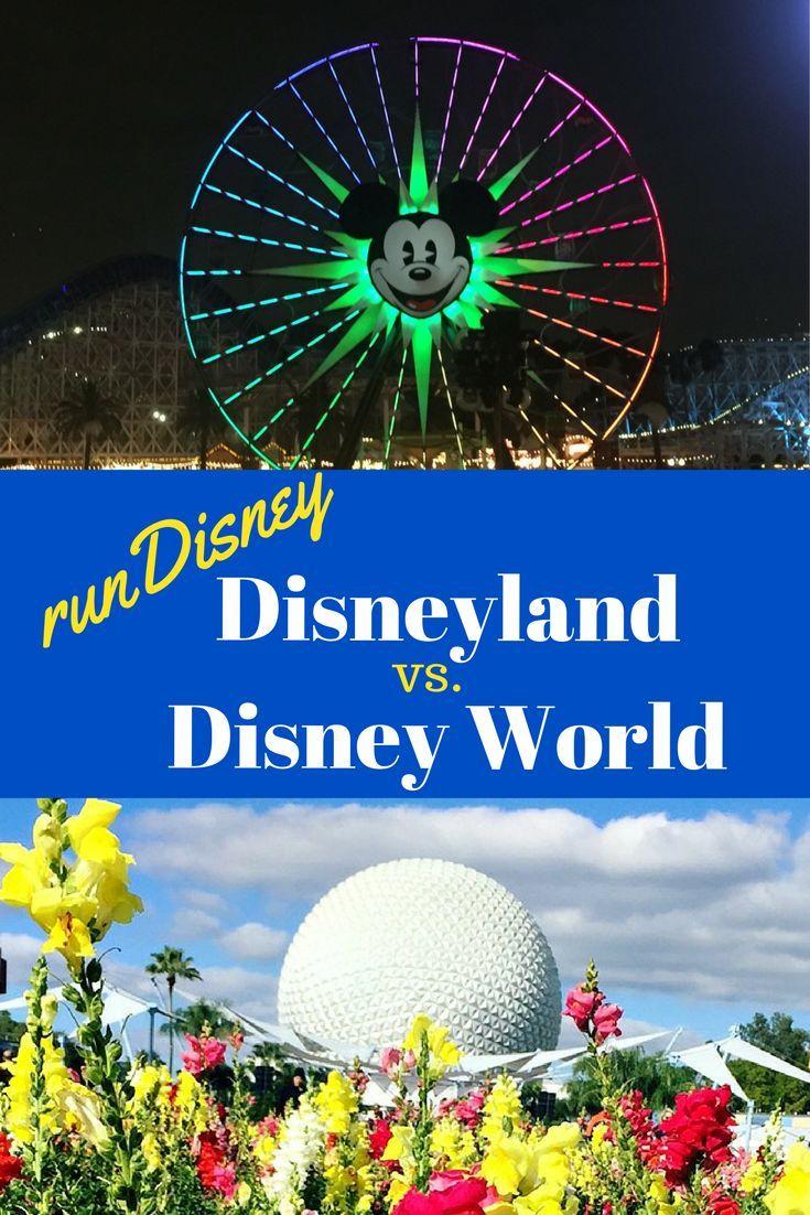 runDisney at Disneyland vs Walt Disney World: the differences in racing on each coast.