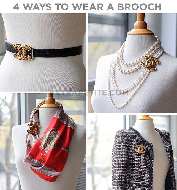 four ways to wear a brooch | this woman's blog is a fantastic styling and diy fashion site, esp. if you're petite. great mix of thrift to high-end pieces.     -ronald