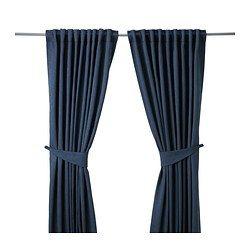 BLEKVIVA Curtains with tie-backs, 1 pair - IKEA £35