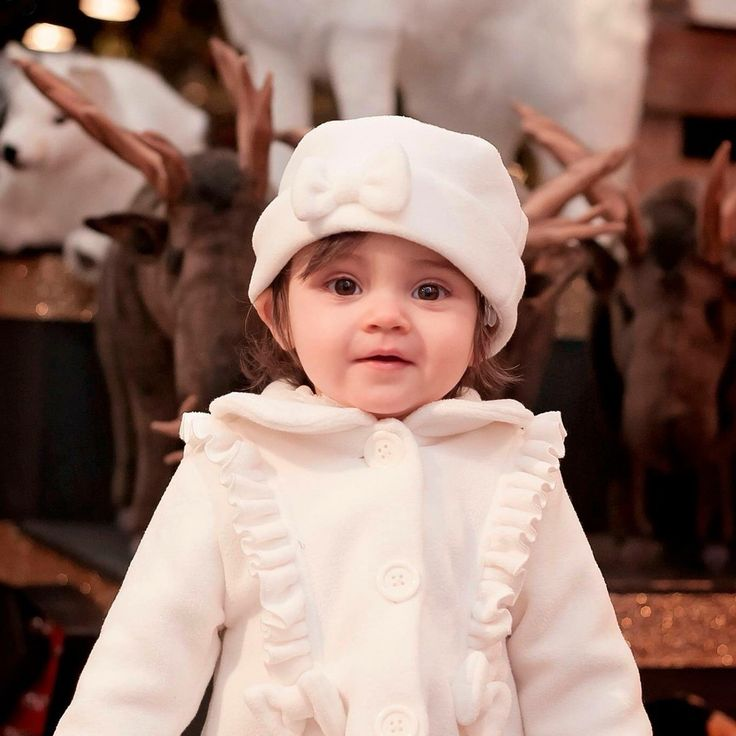 My baby girl #toddler #whitepeacoat #winterfashion