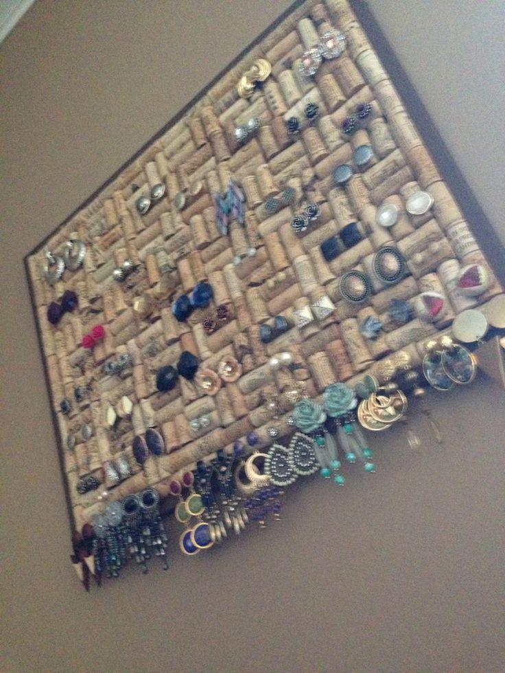 my cork board earring holder