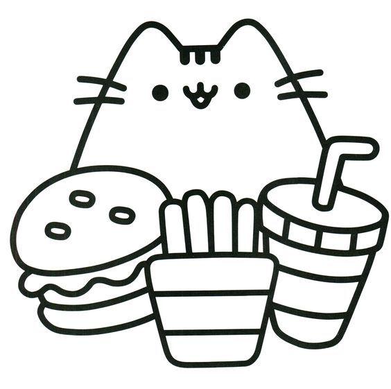 Les 38 meilleures images du tableau coloriage pusheen sur pinterest bricolage facile chat - Chat a colorier kawaii ...