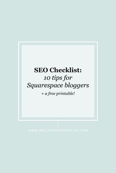 Squarespace doesn't Squarespace doesn't have an analytical SEO checklist plugin to scan your site and posts for keyword strength. So how do Squarespace users overcome this? Easy ... do what I did. blogging tips for beginners blogging tips and tricks wordpress blogging tips lifestyle blogging tips blogging tips ideas blogging tips writing blogging tips blogger blogging tips group board photography blogging tips fashion blogging tips blogging tips & tools blogging tips instagram blogging tips…