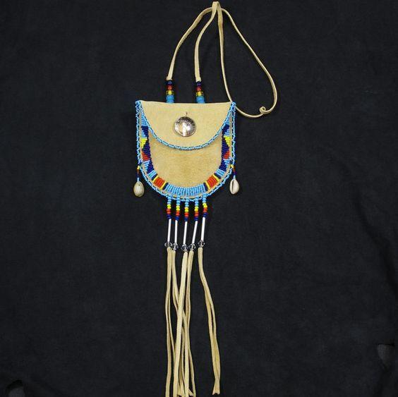 Beaded Medicine Pouch Native American Indian Beadwork