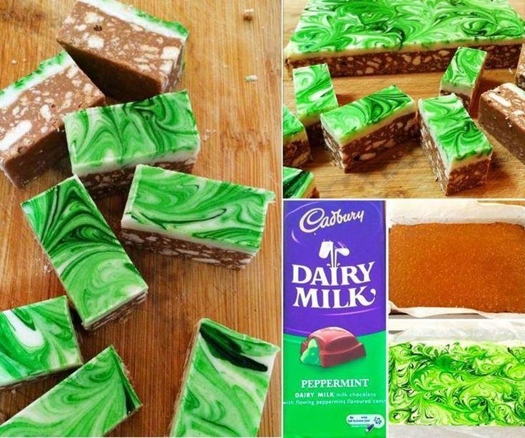 Creative Ideas – DIY Easy Chocolate Peppermint Slice