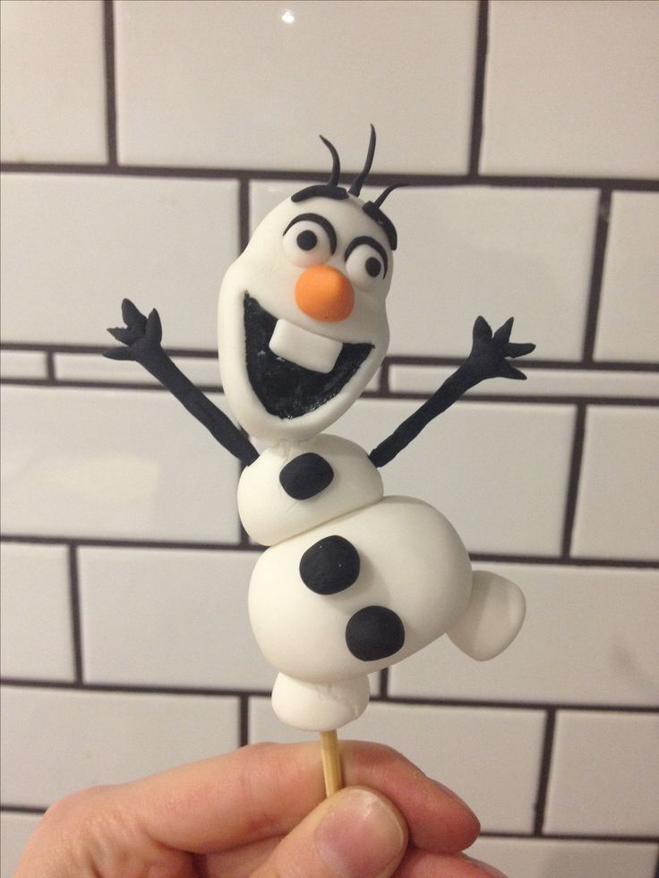 Olaf Fondant Cake Topper From Frozen With Images