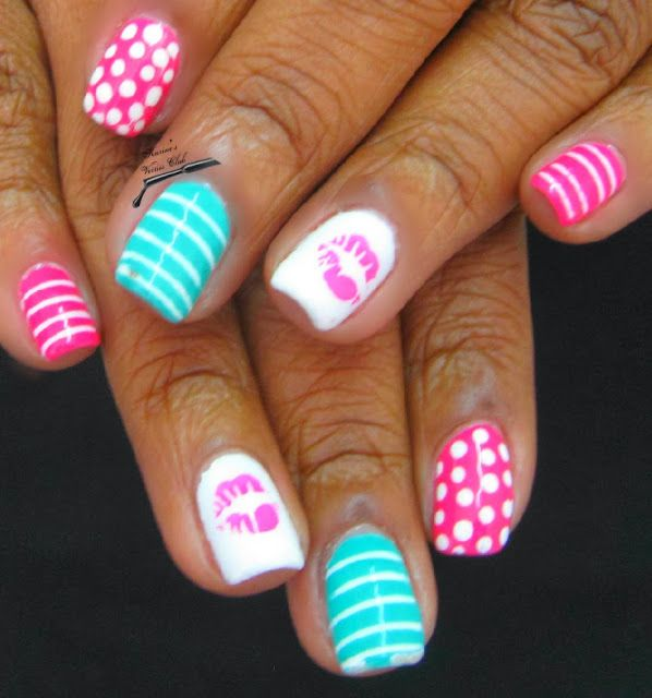 Girly Nail Art: Girly Girl Nail Art