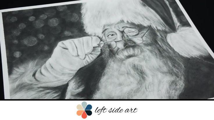 Santa in Graphite Pencil - Ho! Ho! Ho!