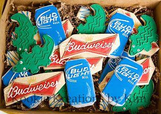 Budweiser Bud Light cookies - Kookie Kreations by Kim