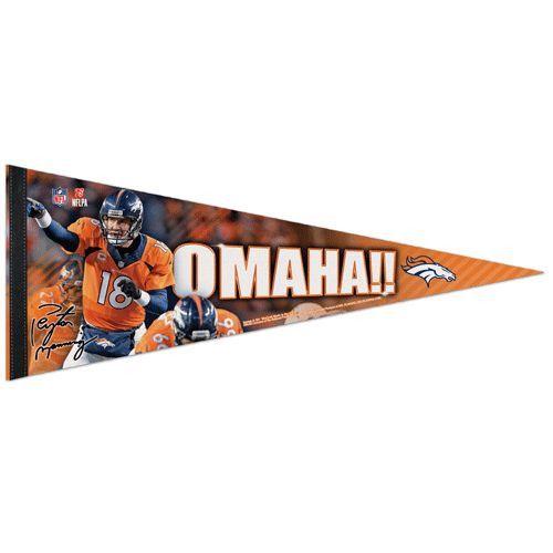 Denver Broncos Peyton Manning Omaha Premium Pennant