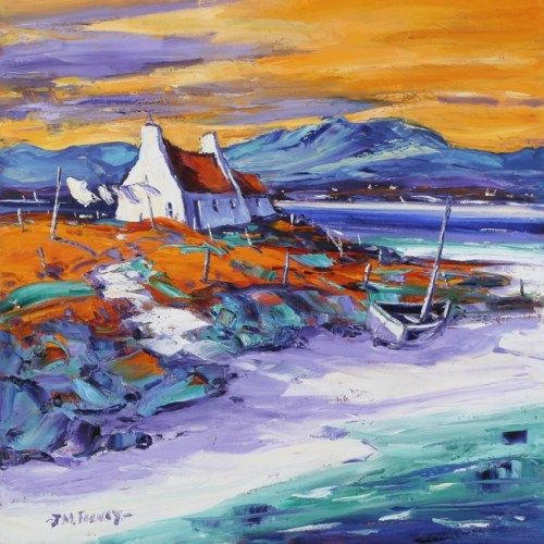 Evening on the Shore, Loch Ewe ~ Scottish artist Jean Feeney