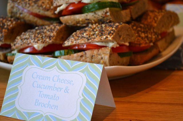 Sandwiches at a baby shower #babyshower #sandwiches