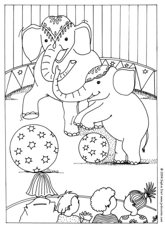 Circus Elephants Coloring Page Fun PagesAnimal PagesPrintable